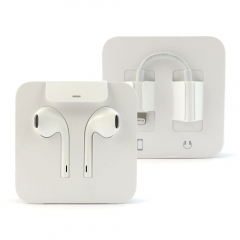 New Original Earpods Lightning Connetor With Headphone Jack Adapter With Box
