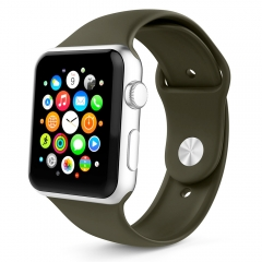 For Apple Watch 38mm 42mm Silicone Band