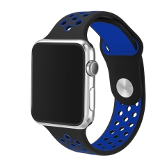 For Apple Watch 38mm 42mm Two-tone Color Silicone Band