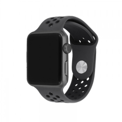For Apple Watch 38mm 42mm Coal Black Color Plastic Band