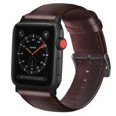For Apple Watch 38mm 42mm Leather Watch Band