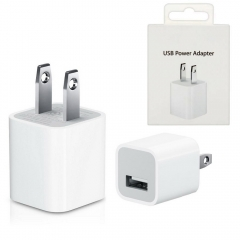 For iPhone iPod New Original 5W USB Power Adapter Wall Charger With Box