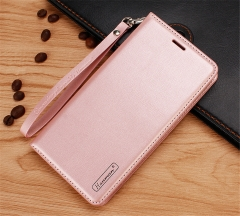 For iPhone Hanman Flip Cover Case Leather Mobile Phone Case With Card Slot