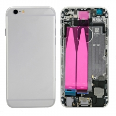 For iPhone 6 Back Housing Cover With Side Buttons & Card Tray Full Assembly - Silver