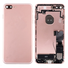 For iPhone 7 Plus Back Housing Cover With Side Buttons & Card Tray Full Assembly - Rose Gold