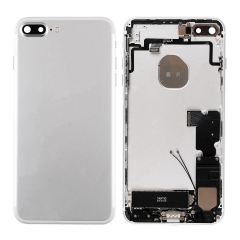 For iPhone 7 Plus Back Housing Cover With Side Buttons & Card Tray Full Assembly - Silver