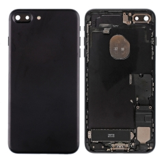 For iPhone 7 Plus Back Housing Cover With Side Buttons & Card Tray Full Assembly - Black