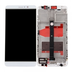 For Huawei Mate 9 LCD Screen and Touch Digitizer Assembly With Frame White