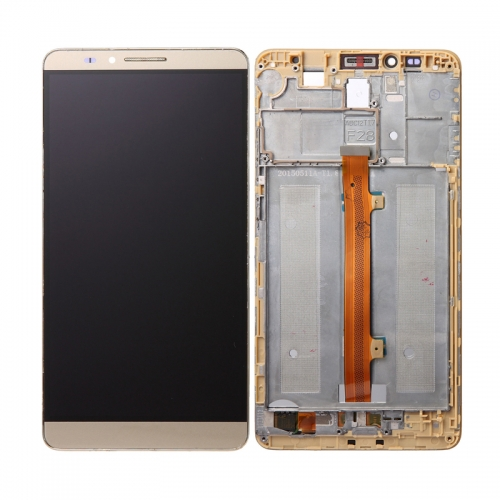 For Huawei Mate 7 LCD Screen and Touch Digitizer Assembly With Frame Gold