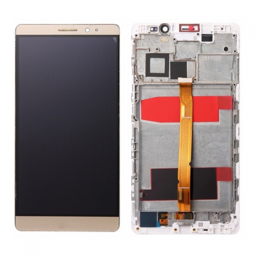 For Huawei Mate 8 LCD Screen and Touch Digitizer Assembly With Frame Gold