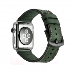 For Apple Watch 38mm 42mm Leather Watchband Design Dot Holes