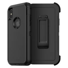 For iPhone X Defender Case With Belt Clip With Retail Box