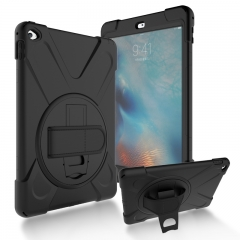 For iPad Air Mini Pro Shockproof Heavy Duty Plastic Case Cover With Hand Strap and Holder