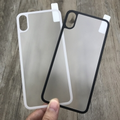 For iPhone X Back Glass Matte Anti Fingerprint  Carbon Fiber Tempered Glass