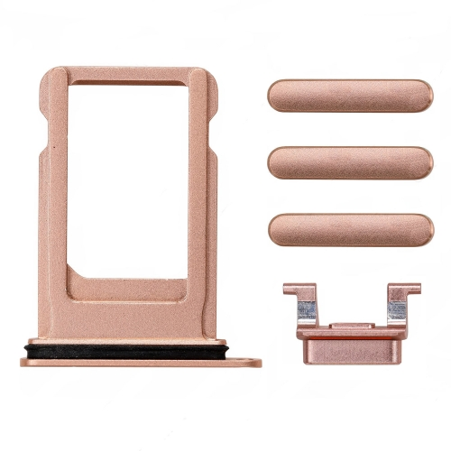 For iPhone 8 Sim Card Tray With Side Buttons - Gold