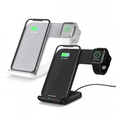 2 in 1 Fast Wireless Charger For Apple Watch and Mobile Phones