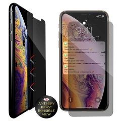 For iPhone XS Max Privacy Tempered Glass Anti-Spy Screen Protector With Packing