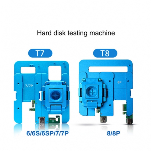 JC T7 T8 NAND Hard Disk Test Repair Fixture Without Battery For Brush Tester Motherboard Boot Fault Detection Phone Repair