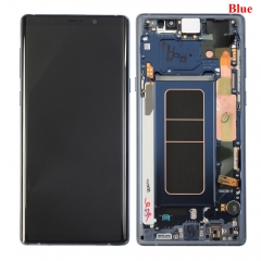 For Samsung Galaxy Note 9 N960F LCD Display Touch Screen Digitizer Assembly With Frame Blue