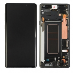 For Samsung Galaxy Note 9 N960F LCD Display Touch Screen Digitizer Assembly With Frame Black