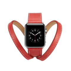 For Apple Watch 38mm 42mm Leather Band Crown Strap