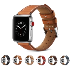 For Apple Watch 38mm 42mm Leather Watch Band Leather Strap