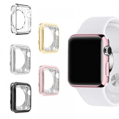 For Apple Watch TPU Plated Soft Plastic Watch Case