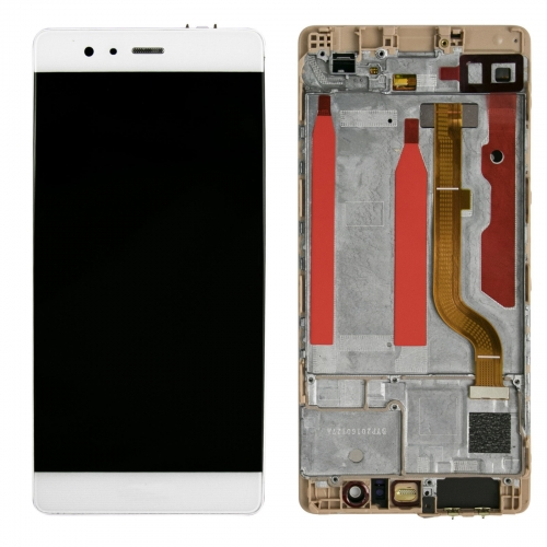 For Huawei P9 EVA-L09 LCD Screen Display Tough Digitizer With Frame Assembly White