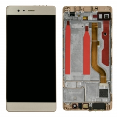 For Huawei P9 EVA-L09 LCD Screen Display Tough Digitizer With Frame Assembly Gold