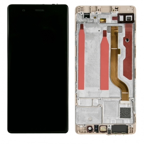 For Huawei P9 EVA-L09 LCD Screen Display Tough Digitizer With Frame Assembly Black