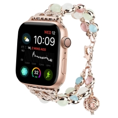 For Apple Watch Band Handmade Luminous Pearl iWatch Bracelet