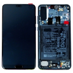 For Huawei P20 Pro LCD Display Touch Screen With Frame Assembly Black Original Teardown