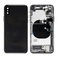 For iPhone X Battery Back Housing Frame Assembly With Small Parts Black Original