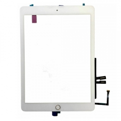 For iPad 6 2018 A1893 A1954 Touch Screen Digitizer With Home Button and Adhesive Assembly White Original
