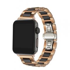 For Apple Watch 38mm 40mm 42mm 44mm Trumirr Ceramic + Stainless Steel Strap