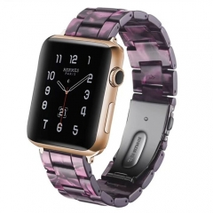 For Apple Watch 38mm 42mm 40mm 44mm Resin Strap Stainless Steel Buckle Strap