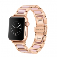 For Apple Watch 38mm 40mm 42mm 44mm Stainless Steel Women Band Woman Wrist Strap