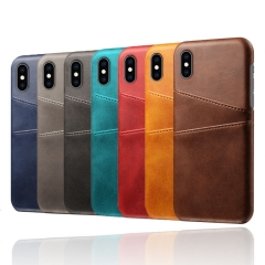 For iPhone Wallet Phone Case Slim PU Leather Back Cover With Credit Card Holder