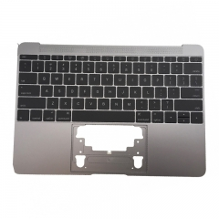 "For MacBook 12"" A1534 Keyboard Topcase Replacement US 2015 Space Grey"
