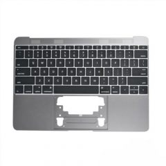 "For MacBook 12"" A1534 Keyboard Topcase Replacement US 2016 Space Grey"