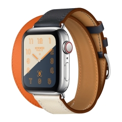 For Apple Watch 38mm 42mm Leather Band Double Watch Band