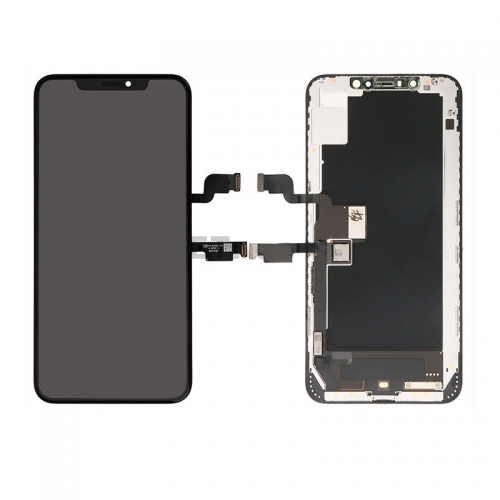 For iPhone XS LCD Screen and Digitizer Assembly with Frame Replacement - Black - Original Refurbished