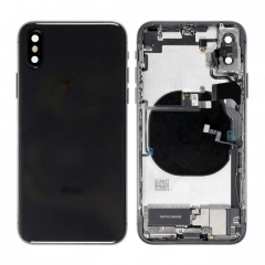 For iPhone XS Battery Back Housing Frame Bezel With Small Parts Assembly Black