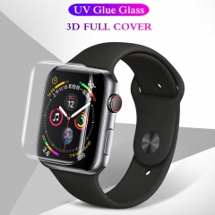 For Apple Watch 38mm 42mm 40mm 44mm UV Tempered Glass Nano Liquid Screen Protector