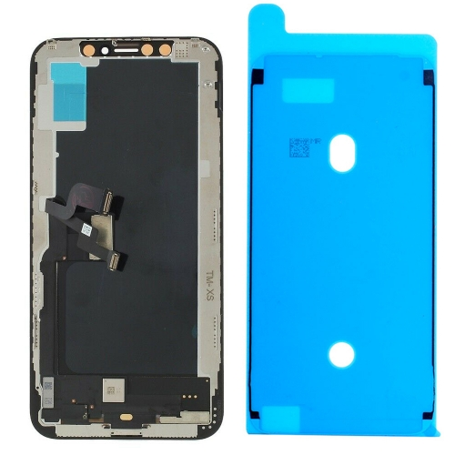 For iPhone XS LCD Screen and Digitizer Assembly with Frame Replacement - Black - AMOLED Tianma