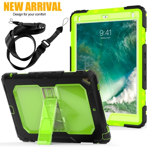For iPad Kids Safe Shockproof Heavy Duty Kickstand Cover With Strap