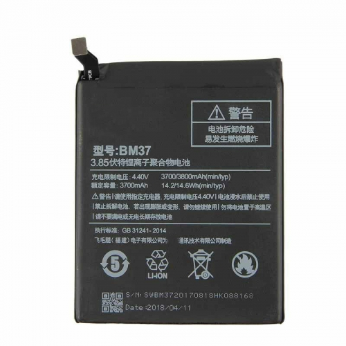 For Xiaomi 5S Plus Mi 5S Plus Original Battery BM37 3700mAh 3.85V Battery Replacement