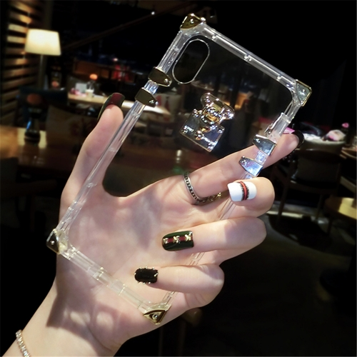 For iPhone Luxury Square Clear Crystal Case Soft TPU Cover