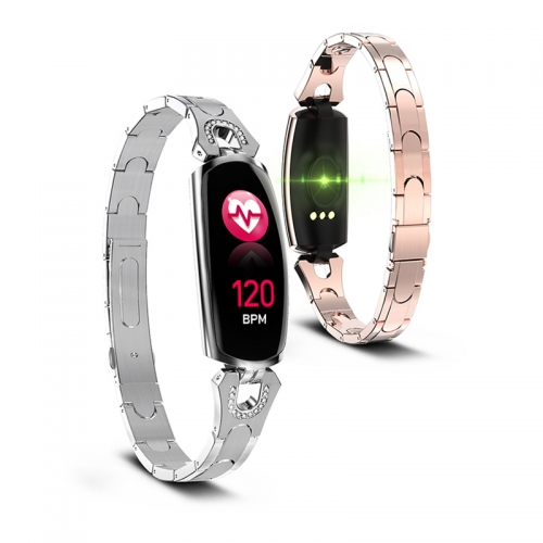 2019 New Women Smart Watch IP67 Waterproof Heart Rate Monitor For Android IOS Phone Fitness Bracelet AK16