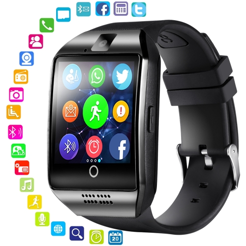 For Android Bluetooth Smart Watch SIM Card Watch Men Q18 With Touch Screen Big Battery Support TF Sim Card Camera